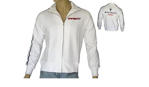 Xl Homme Corse Veste Sweat White Zip Maserati Full Taille BwORvqCx