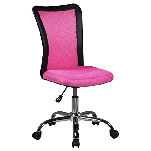 FineBuy Kinder-Schreibtischstuhl LUKI für Kinder ab 6 mit Lehne Weichboden-Rollen Kinder-Drehstuhl Kinder-Bürostuhl ergonomisch höhenverstellbar Jugendstuhl für Mädchen Jungen Pink Kinderzimmerstuhl
