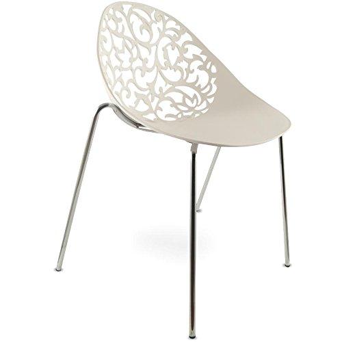 Produktabbildung von MOJO Design Stuhl Gartenstuhl Stahl Gestell in weiss S05