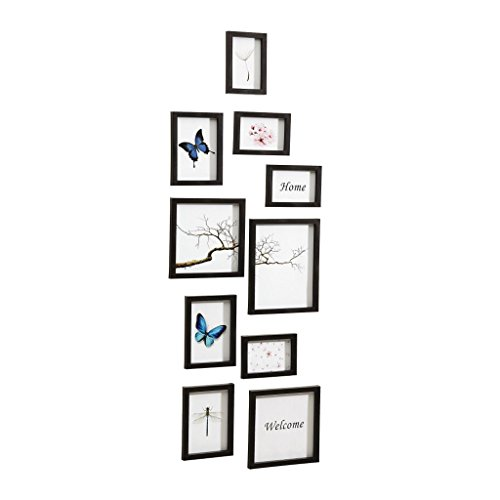 *Nielsen Design Nielsen 10 Piece Frame Set Black Plastic Mobile Rack 8999176*