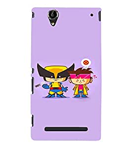 EPICCASE Cute Little Heros Mobile Back Case Cover For Sony Xperia T2 (Designer Case)