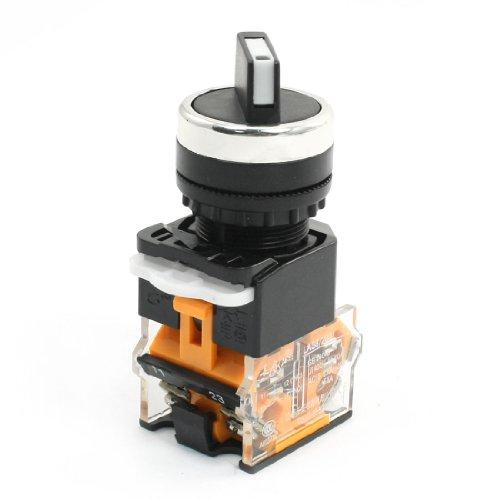 sourcingmap® AC15 230V/380V 5.5A Doppel- Positions DPST Selbstschliessend Drehschalter