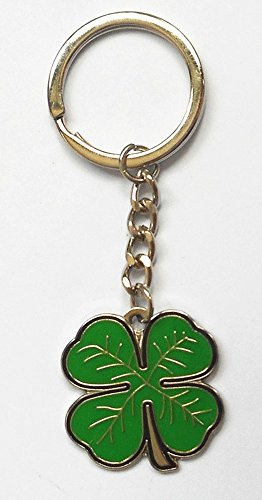 metal-keyring-four-leaf-clover-lucky-shamrock-green-enamel