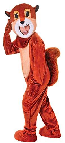 Mens Ladies Brown Squirrel Mascot Animal Festival Stag Do Fancy Dress Costume Outfit (One Size) (Animal Fancy Dress Kostüm Für Erwachsene)