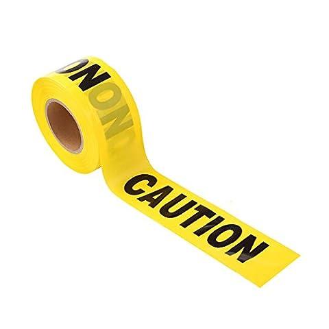 UEETEK 100M Barricade Ruban d'attention Ruban d'avertissement pour l'application de