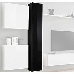 Muebles Bonitos –Mueble TV modelo Berit V180 en color negro
