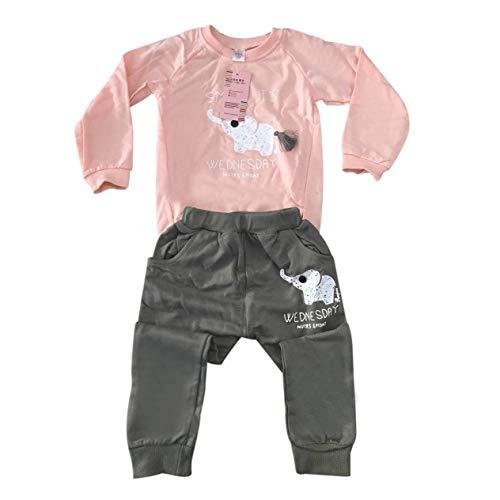 EdBerk74 2 Piezas Sudadera de Manga Larga + Traje de pantalón elástico...