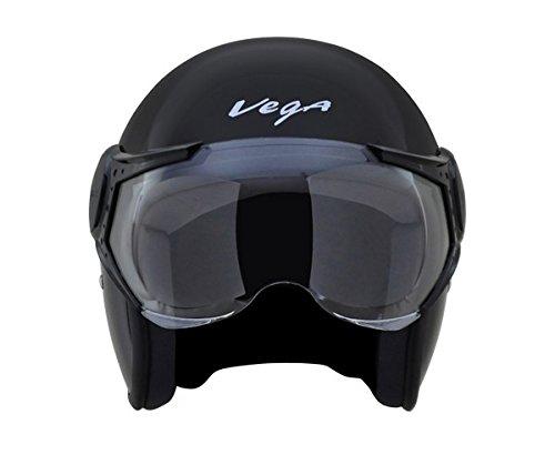 Vega Jet Open Face Helmet (Black, L)