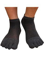 Casual Mesh chaussettes en coton doux respirant chaussettes sport Cinq Toe Elenxs 1 paire Hommes