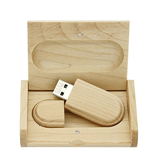 Yaxiny 8GB 3.0 Maple Wood USB Flash Drive with Wooden Box