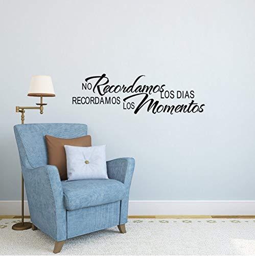 Spanisch Home Zitate Keine Recordamos Los Dias Recordamos Los Momentos Wandaufkleber Dekoration Wohnzimmer Text Aufkleber 57x18 cm