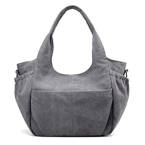 LFGCL Plissee Doppeltasche Handtasche Damen Tasche Mode Schulter Umhängetasche, Graybags Frauen -