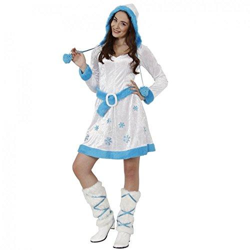 Kostüm Schneeflocke Gr. M Kleid mit Stulpen Eisprinzessin ()