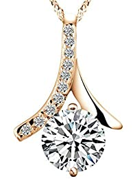 Foxy Urban™ Best Gift 18K Gold Plated Cubic Zirconia Pendant Necklace For Women
