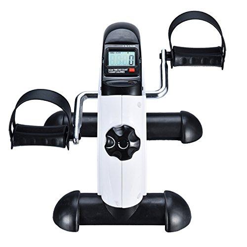 EXEFIT Mini Heimtrainer Arm Und Beintrainer Trainingsrad Stepper Crosstrainer Fitness Geräte Exercise Bike Pedal Exerciser