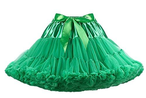Roll And Moderne Kostüm Rock - Aysimple Damen Puffy Chiffon Tütü Petticoat Tüllrock Unterrock Tüll Petticoats 50s Rock&Roll Grün