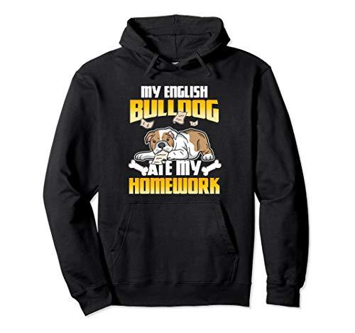 Weihnachtsgeschenke Jugendliche Jungen Mädchen Hausaufgaben  Pullover Hoodie (Bulldog Hoodie Englisch)