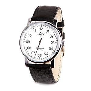 Luch Herren Armbanduhr 1 Zeiger Mechanische Armbanduhr Leder Vintage Weiß 77471760RUS