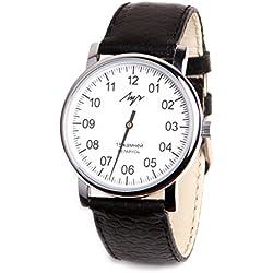Reloj mecánico de pulsera Lunch de piel estilo vintage y color blanco para hombre 77471760RUS.
