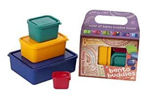 Laptop Lunches Bento-ware Bento Buddies, 4 BPA-free Lunchbox Containers with Leak-proof Lids, Primary (B650w-primary)