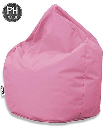 Patchhome Sitzsack Tropfenform Rosa für In & Outdoor XXL 420 Liter - mit Styropor Füllung in 25 Versch. Farben und 3 Größen