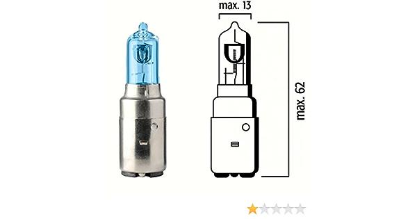 Lampe Birne BA20d Sockel 12V 35/35W Bilux Halogen Xenoneffekt B ...