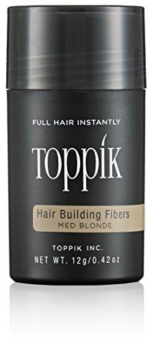 TOPPIK 12 g. Haarfasern - Haarverdichter Streuhaar Hair Fibers Microhairs, Farbton:Mittelblond