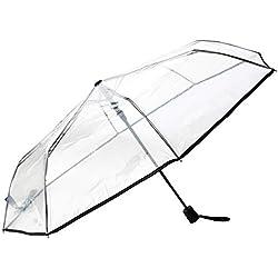 SMATI Paraguas plegable transparente - automático Antiviento
