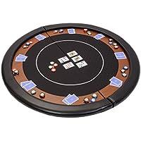 Riverboat Gaming Kompakte Faltbare Pokerauflage mit Schwarzem wasserabweidenden Stoff und Tasche – Pokertisch 120cm