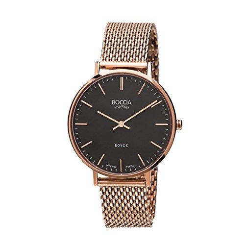 Boccia Damen-Armbanduhr Analog Quarz Edelstahl beschichtet 3590-10
