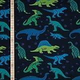 StoffHandwerker Dino Ausstellung - Dunkelblau - Jersey