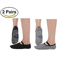 Amazon.es  calcetines antideslizantes pilates - Pilates   Fitness y ... a33f5c38804c