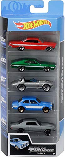 Hot Wheels - Fast and Furious Pack de 5 coches de juguete para niños +3 años (Mattel GGH46)