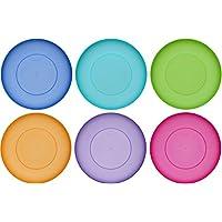 idea-station NEO Kunststoff-Teller 25.5 cm, 6 Stück, bunt, rund, stapelbar, mehrweg, Teller-Set, Speise-Teller, Plastik-Teller, perfekt für Kinder, Outdoor, Camping, spülmaschinenfest