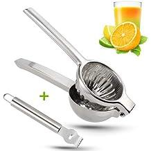 Exprimidor manual de limón de acero inoxidable, resistente, de alta resistencia, extractor de