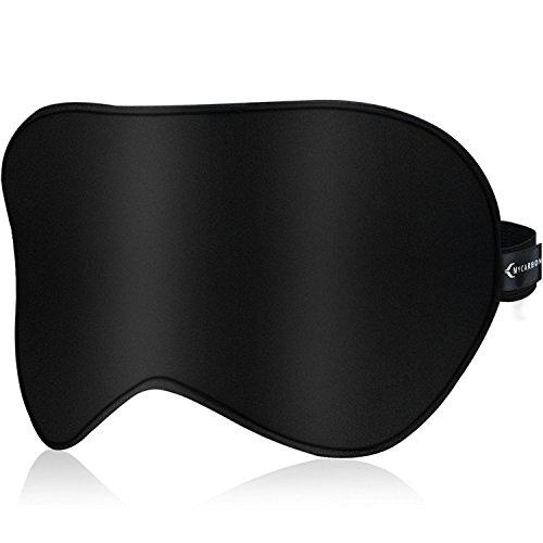 Schlafmaske Seide Damen MYCARBON 100% Echter Seidenfaden Geruchneutral Färbt nicht ab Lichtdicht für Allergiker Hautfreundlich Schlafbrille Augenmaske Unisex für Damen Herren Kinder -