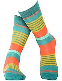 Grün gestreifte Socken aus hochwertiger, langstapliger Bio Baumwolle, GOTS zertifziert