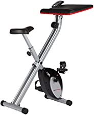 Ultrasport F-Bike Design, Cyclette da Allenamento, Home Trainer, Fitness Bike Pieghevole con Sella in Gel, con