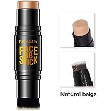 Moresave Corrector facial Fundación crema Palo Bolígrafo Corrector Contorno de maquillaje con pincel
