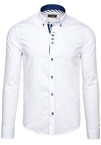 BOLF Herrenhemd Herrenshirt Slim FIT Casual Elegant NEW 5796 Weiß