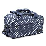 Members Essential On-Board Ryanair Compliant Second Hand Baggage in Navy & White Polka Dot