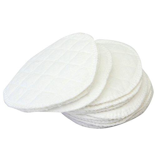 12pcs Compresses d'Allaitement en Coton Blanc Réutilisable Souple Lavable 11cm