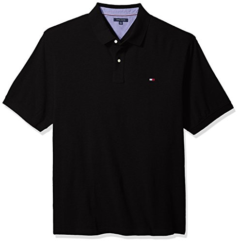 Tommy Hilfiger Herren Big and Tall Polo Shirt Ivy Polo Hemd - schwarz - 5X-Large (Tall Big Poloshirt Herren)