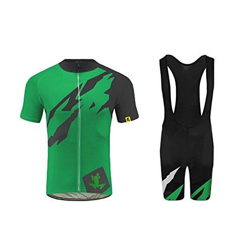 Uglyfrog Maglia da Ciclismo, da Uomo, a Maniche Corte, Traspirante, Imbottita con Protezioni, Abbigliamento Sportivo DXC23