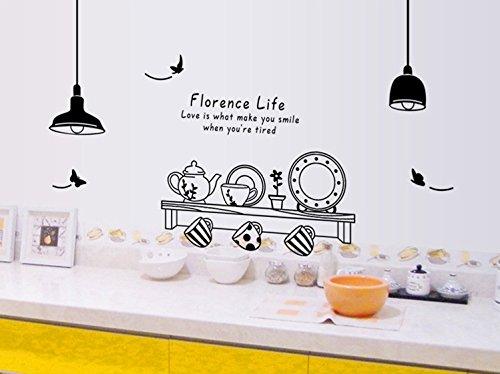 ufengke® Personalizzato Vasellame da Cucina Adesivi Murali ...