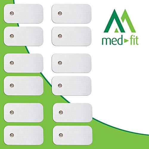 MED-FIT 5x10cm Flexi iSTIM 12 x 3.5mm Stud tipo snap/boton TENS Almohadillas autoadhesivas encajan...