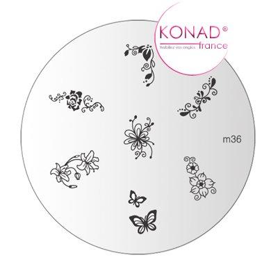 Piastra a disco, motivo M36 Konad stamping nail...