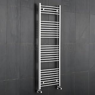 KUDOX Chrome Curved Heated Towel Rail Rad Radiator 500x1500mm Bathroom