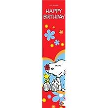 Snoopy Geburtstagskalender mini long 2009: Jahresunabhängig