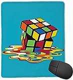 Tapis de souris de bureau fondu en caoutchouc Mousepad en caoutchouc magique de cube magique 8,66 x 7,09 pouces Tapis de souris de jeu avec le bord de verrouillage noir